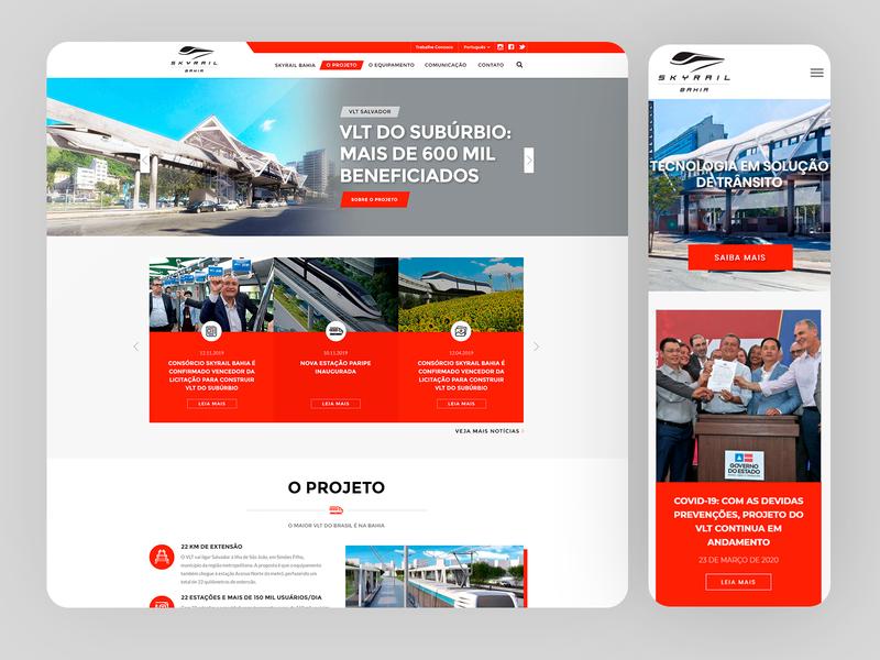 VLT Salvador - Sky Rail Bahia Responsive Website - 2019 wordpress adobe xd xd photoshop ux mobile ui uxdesign responsive design grids ui design design art direction