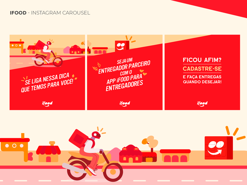 IFOOD - Social Media Design Feed - 2020 instagram feed social media ifood branding mobile ui ui photoshop uxdesign ui design design art direction