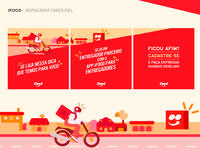IFOOD - Social Media Design Feed - 2020 instagram feed social media ifood branding mobile ui ui photoshop uxdesign ui design design art direction