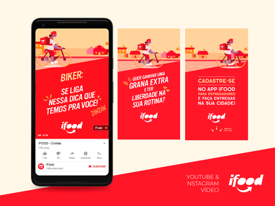 IFOOD - Social Media Video Design Feed - 2020 feed social media branding mobile ui web uxdesign ui design design art direction photoshop ifood