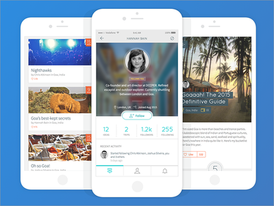 Screen for a new travel app about to launch startup london design mobile app ios travel