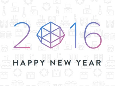 Happy New Year from he team at DCCPER happynewyear icon design 2016
