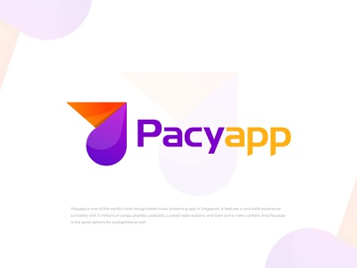 Pacyapp Music App Logo music app app logo app icon logos brand design symbol icon pacyapp 3d 2d logo and branding gradient logo lettermark logodesign monogram logo modern logo branding and identity brand identity branding agency logo design logo