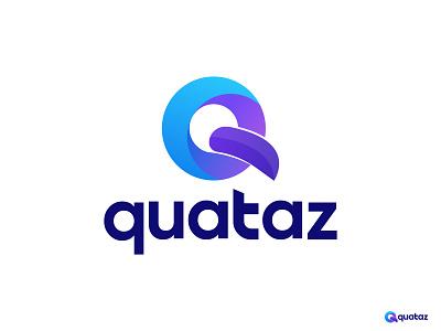 Quataz Logo Design illustrator 2d logo app logo icon logo trends 2021 abstract logo q letter logo q logo agency logo branding design logo designer gradient logo logo design lettermark monogram logo logo and branding modern logo brand identity branding agency