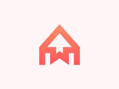 Home + Arrow + W logo folio 2021 logo trends branding logo building logo real estate agency construction logo property logo home logo logo and branding logo design monogram logo w letter arrow house logo real estate logo branding and identity brand identity modern logo branding agency