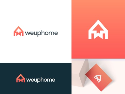 Weuphome - Real Estate Logo Branding creative logo minimalist logo logo designer design logo design w letter arrow with home growth arrow real estate agency house logo home logo real estate real estate branding monogram logo branding agency logo and branding branding and identity brand identity modern logo logo