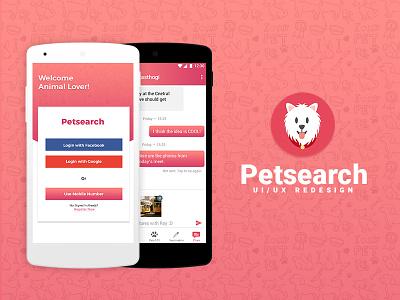 Petsearch App india hyderabad pets ux design ui
