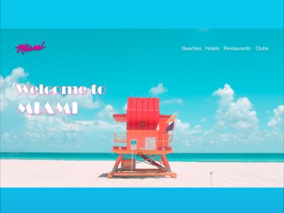 Miami miami vice ux hero landing page