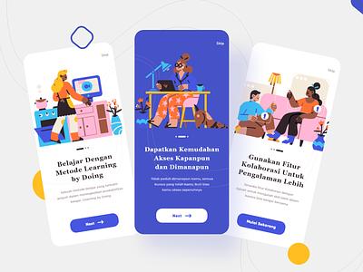 Splash Screen UI Design typography learning course app ui design uiux