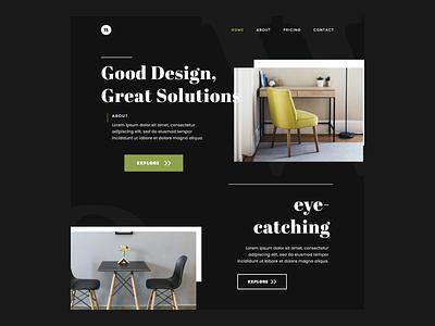 Furniture Web Design Concept Dark Mode Edition ui  ux design web website website design webdesign furniture website dark user experience userinterface uidesign uiux ui
