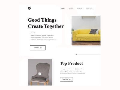 Furniture Website Design ( Light Mode ) webuiuxdesign webuidesign web design web furniture website website design website uidesign typography course app webdesign ui design uiux ui