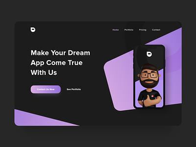 Agency Website Design 3d illustration web design website design website typography webdesign uidesign ui design uiux ui