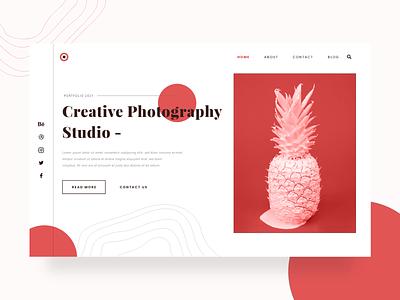 Creative Photography Studio Landing Page website design illustration typography webdesign uidesign ui design uiux ui