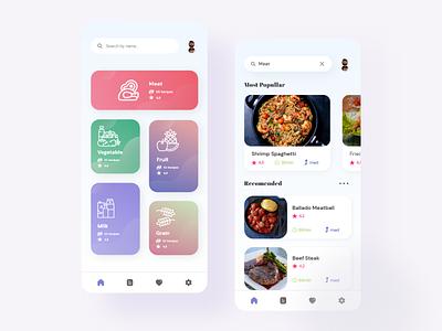 Food Recipe App - With File foodrecipeapp foodapp typography uidesign ui design uiux ui