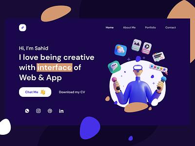 Personal Portfolio Web UI Design web design ui design ui
