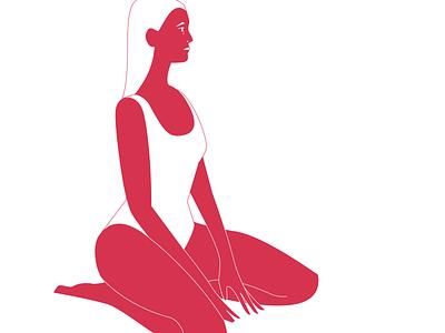 Swim Season swimming woman drawing illustration