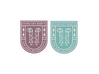 King Cry Baby Butterscotch illustration pastels pastel branding logo design logo
