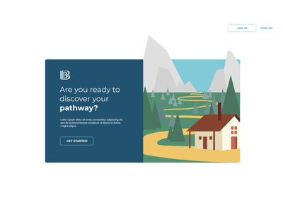 Pathways Landing Page vector website design ui illustration
