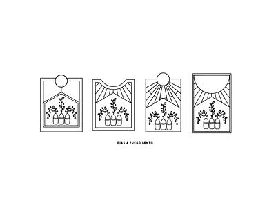 Fuego Lento ui branding vector logo design illustration