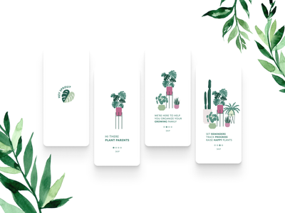 Hey Sprout Onboarding plant illustration plants onboarding ui illustration