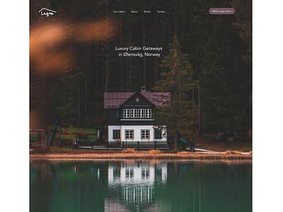 Lagom Cabins ui design luxury branding website ui