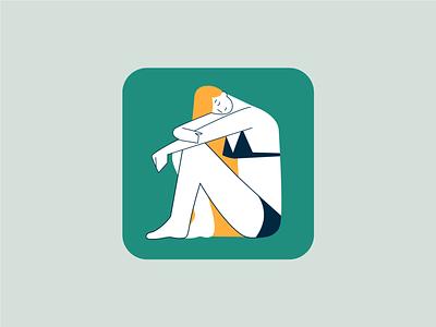 Chilly Beach illustrator minimal flat web icon logo design vector illustration ui