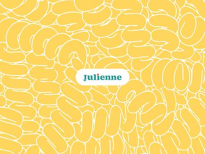 Julienne Rebrand minimal flat illustrator logo design vector branding ui illustration