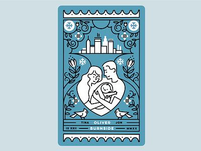 Baby Oliver illustrator design vector illustration minneapolis monoline congratulations baby