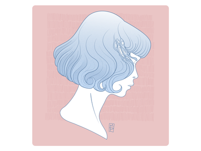 In Thought flat illustrator design vector illustration