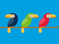 Summer Illustrations for Gymboree - Toucans