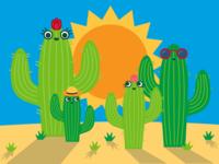 Summer Illustrations for Gymboree - Cacti