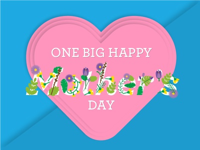 One Big Happy Mother's Day gymboree mother may flower floral hearts one big happy mothers day
