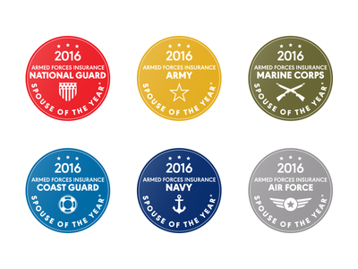 2016 Military Spouse of the Year® Branch Winner Seals