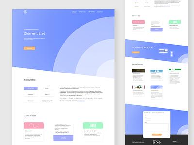 Personal portfolio webpage design adobe xd webdesig website