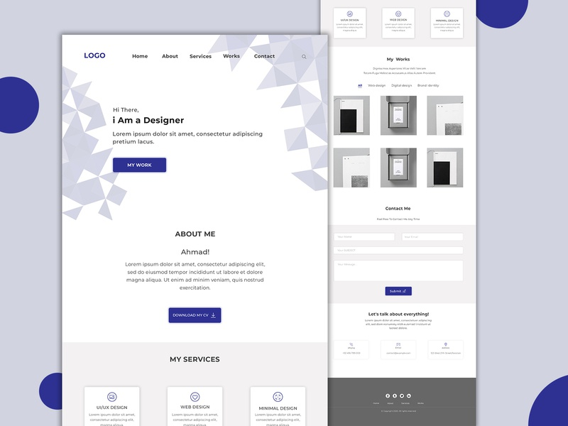 website design for portfolio website portfolio website flat minimal clean design ux web design ui minimalist