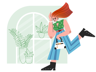 Flower Shop flower shop girl design adobe illustrator procreate illustration
