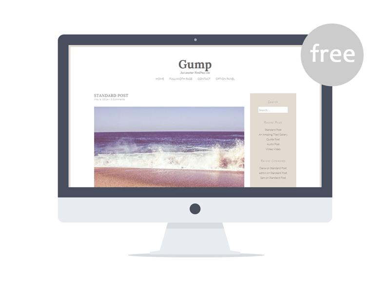 Gump - Free Wordpress Theme blogger blog freebie free wordpress theme wordpress