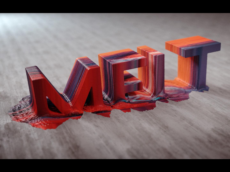 Melt fluid flip digital art cg design render cgi 3d