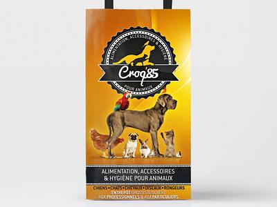 Croq85 bag illustration branding logo