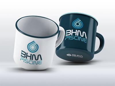 BHM Piscine Logo pool branding logo