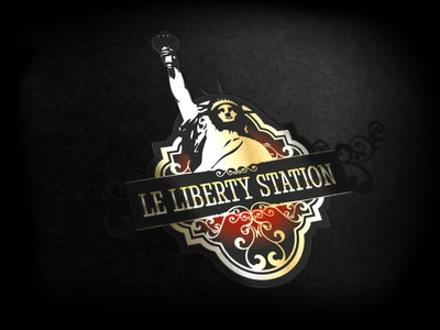 libertystation Logo nightclub clubbing logo