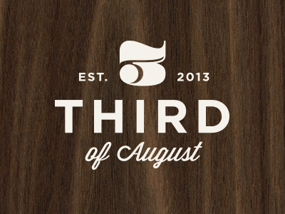 Third of August paper goods etsy logo save the dates wedding wood