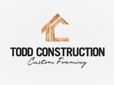 Todd Construction - Concept construction logo wood texture