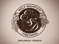 Wolf Mountain Wedding Crest