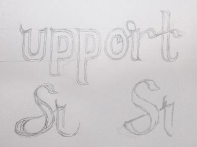 Support Studios - Sketch sketch lettering ligatures