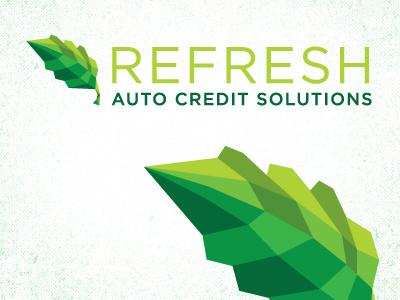 Refresh Logo logo branding identity cubism leaf green gotham