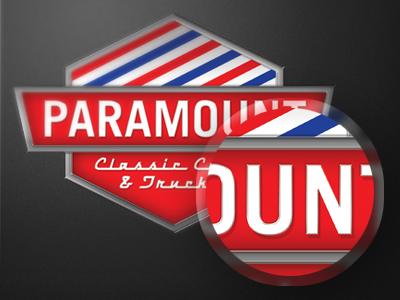 Paramount car emblem logo metal
