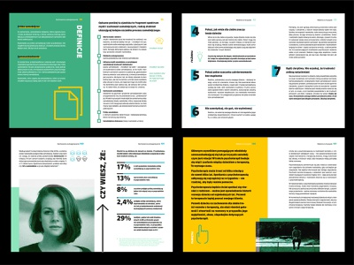 Guides for Parents & Teachers grid layout grid green blue photography vector icon guides guide teacher parents minimalism layout design layout depression psychology yellow books book typography