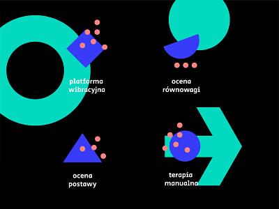 Physiotherapy icon physiotherapy identity icon design icon set illustrator icon design blue branding vector
