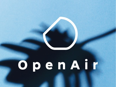 OpenAir logo brand design logo design logotype logo blue typography branding identity design vector